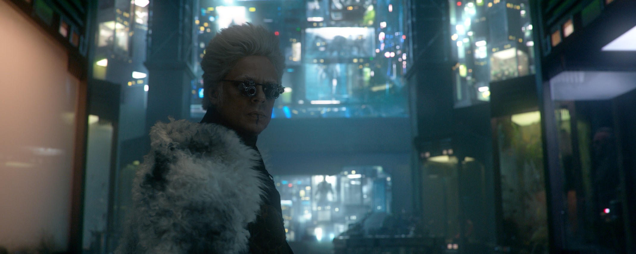 Benicio Del Toro as The Collector in Guardians of the Galaxy